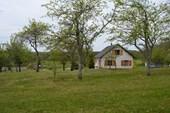 Huis met fruit boomgaard
