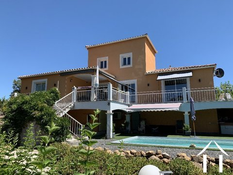 Mediterrane villa met zwembad en vergezichten in Lamalou  Ref # 2401