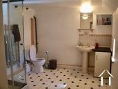 bathroom with toilet upsatirs