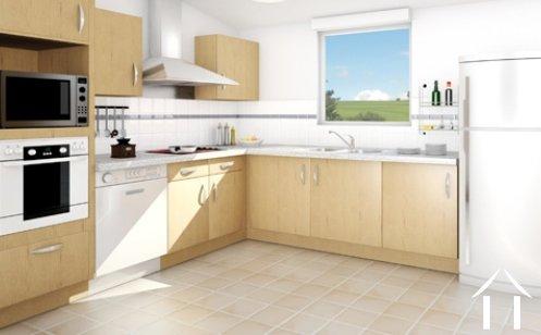 Bungalow huis op 1 level te koop montelimar rh ne alpen 4083 - Ingerichte keuken ...