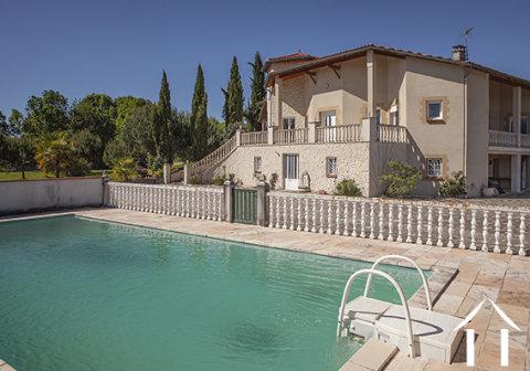 Grote Provençaalse Villa met zwembad, tuin en een geweldig uitzicht op de Pyrénéen. Ref # MPOA1850