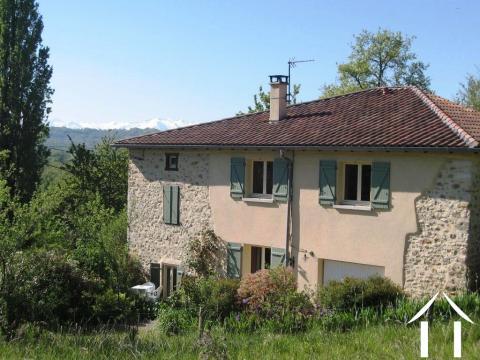 Charmant Natuurstenen huis met tuin en uitzicht op de Pyrénéen. Ref # MPOA1851